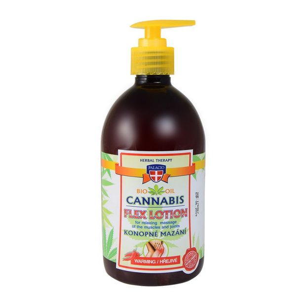 Cannabis Massagelotion mit Pumpe Wärmend 500ml