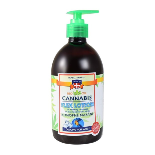 Cannabis Massagelotion mit Pumpe Kühlend 500ml